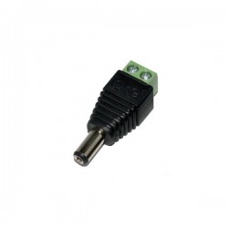 Male Jack Converter Adapter DC Power Connector 1τεμ Well DC-M/2.1X5.5-TBS
